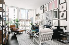 """Matt Bellassai, host of the podcast """"Unhappy Hour,"""" needed an apartment worthy of his outsized personality. Thankfully our designer Emma Beryl helped him create a modern, luxe and loungey pad."""