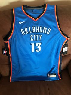 a5ac79be4c7 Details about Nike Paul George  13 Oklahoma City Thunder Nba Jersey NWT  Size XL 18 20 Youth