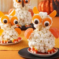 Popcorn Owls Recipe from Taste of Home