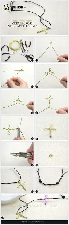 Create a cross necklace for girls by Jersica11.deviantart.com on @deviantART