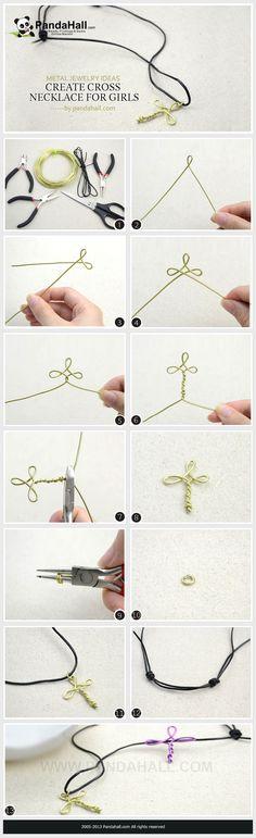 Create a cross necklace for girls by Jersica11.deviantart.com on @deviantART