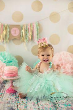 cake smash outfit girls first birthday por SweetAddictionShoppe