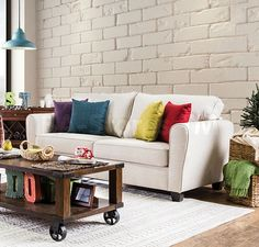 Furniture Of America Tralee Contemporary Style Beige Fabric Upholstered Sofa