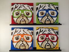 Hey, I found this really awesome Etsy listing at https://www.etsy.com/listing/196991179/lego-mosaic-of-pugs-wearing-glasses