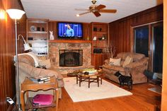 Wood paneling makeover on pinterest paneling makeover Wood paneling transformation