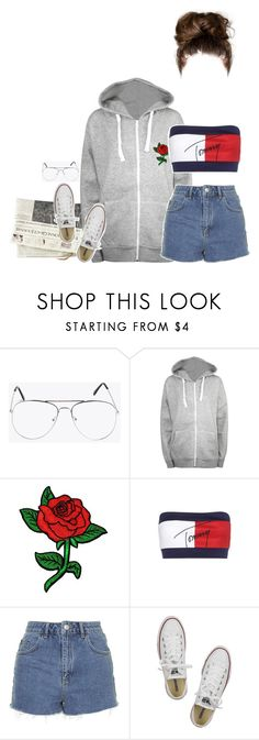 """Set 621 -"" by xjulie1999 ❤ liked on Polyvore featuring WearAll, Tommy Hilfiger, Topshop and Converse"