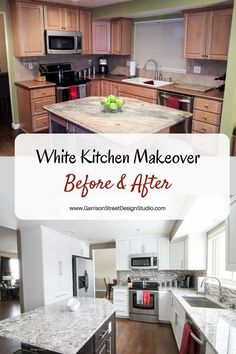 Kitchen Face Lift   Before and After   Garrison Street Design Studio   Before & After Kitchen Makeover   Before & After Home Decor   Kitchen Before & After   Before & After Design   Before & After DIY   Before & After Home Makeovers   Before & After Home   Before & After Ideas