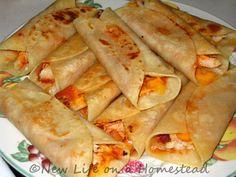 Crispy Chicken Tortilla Rolls