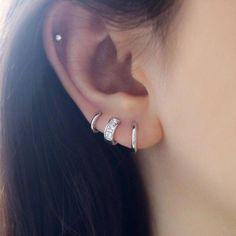 Ear Jewelry, Crystal Jewelry, Crystal Earrings, Body Jewelry, Sterling Silver Earrings, Diamond Earrings, 925 Silver, Jewellery, Silver Jewelry