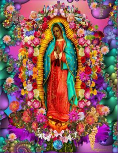 Our Lady of Guadalupe Virgin of Guadalupe Timothy Helgeson Catholic Art, Religious Art, Virgin Mary Art, Chicano Love, Latino Art, Mexico Culture, Mexico Art, Blessed Mother Mary, Jesus Pictures