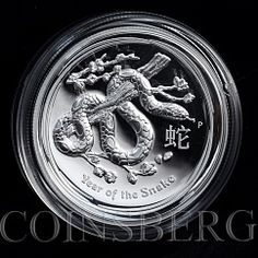Australia 1 dollar Year of the Snake Lunar Series II Proof 1 oz High Relief 2013