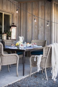 Wicker Patio Furniture from Home Depot | Summer Entertaining | boxwoodavenue.com