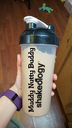 Café Latte-Muddy Nutty Buddy     Shakeology   1/2 cup unsweetened almond milk 1/2 cup water 2 tsp. All-natural almond butter  1/4 large banana cut into chunks  Blend & enjoy!