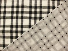 Japanese Woven Plaid Double Layer Gauze