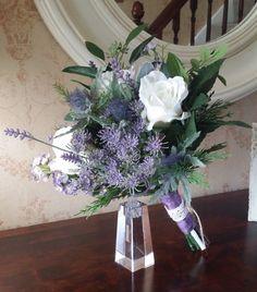Blue Thistle Wedding Bouquet Design Pinterest Fl Designs And