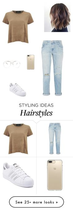 """street style"" by pauline02 on Polyvore featuring MINKPINK, Current/Elliott, adidas and Speck"