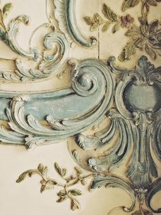 Blue Lace of Versailles - wall feature for French Baroque room