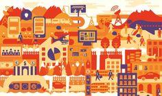 Crush | EN Building & Cities Illustration City Illustration, Paris City, Paris France, Infographic, Crushes, Kids Rugs, Artist, Cities, Illustrations