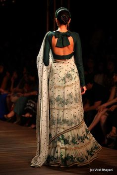 An elegant full-sleeved blouse, by Sabyasachi