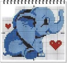 Resultado de imagem para free baby elephant cross stitch pattern