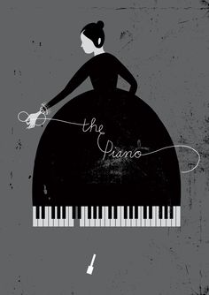 The Piano poster design by Karolin Schnoor