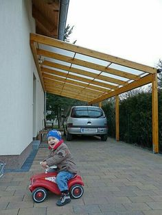 Love this idea for a carport. Two car carport would be great!