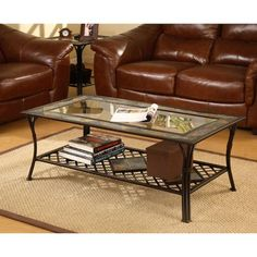 Slate/Glass/Steel Coffee Table (Slate Gla)
