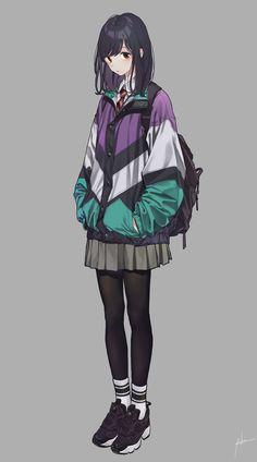 Ideas Fashion Girl Anime Inspiration For 2020 Manga Girl, Art Manga, Chica Anime Manga, Cool Anime Girl, Kawaii Anime Girl, Anime Art Girl, Anime Girls, Anime Tomboy, Girls Characters