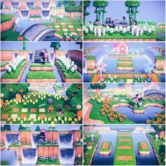 my fav spots on my island : ac_newhorizons Animal Crossing 3ds, Animal Crossing Villagers, Animal Crossing Qr Codes Clothes, Animal Crossing Pocket Camp, Animal Games, My Animal, Ac New Leaf, Island Design, Happy Home Designer
