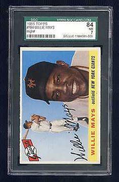 d7e9c7da8f Top 15 Willie Mays Baseball card list - PSA Graded Topps Rookie Value. 1952  Topps Willie Mays. Value of Willie Mays baseball card.