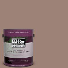 BEHR Premium Plus Ultra 1-gal. #N150-4 Modern Mocha Eggshell Enamel Interior Paint