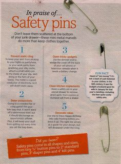 safety pin uses
