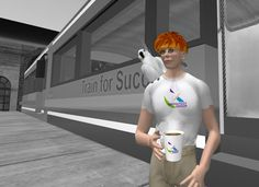 """Dr. Anders Gronstedt's popular """"Train for Success"""" group in the virtual world, Second Life"""