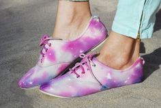 Tie Dye Galaxy Shoe | 33 DIY Shoe Hacks
