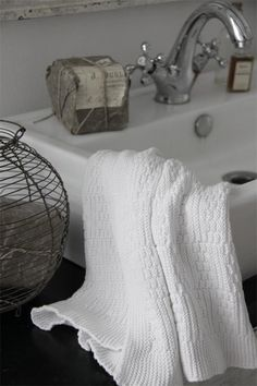 French inspiration - Knitted towels in soft cotton