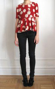 Vain & Vapid Winter 2011 Strata Silk Blouse $115