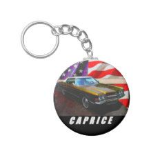 1972 Caprice Coupe Basic Round Button Keychain