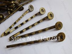 Jewelry DIY findings - 1000pcs 45mm with 8mm flat pad antique bronze hair clip hair bobby pins findings accessories $68.38