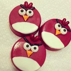 Angry Birds Chocolate Covered Oreos
