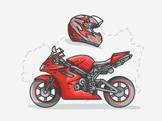 Speed Motorbike designed by Aleksandar Savic. Connect with them on Dribbble; Motorbike Design, Sky Sea, Friend Birthday Gifts, Ceramic Mugs, Animal Drawings, Motorbikes, Silhouette, Vehicles, Illustration