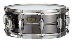 """Tama SP1455H """"The Gladiator"""": Simon Phillip's second main snare drum, The Gladiator, features black nickel-plated bronze shell."""