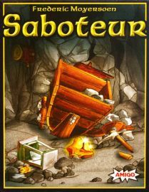 Saboteur- An small quick game where you are dwarves trying to dig your way to treasures, but watch out some of these dwarves are trying to sabotage your mining efforts. Family Game Night, Family Games, Man Games, Games To Play, Le Saboteur, 999 Game, Party Card Games, Light Games, Cooperative Games