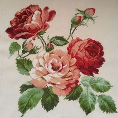This Pin was discovered by Gök Cross Stitch Bird, Cross Stitch Borders, Cross Stitch Flowers, Cross Stitch Charts, Cross Stitching, Cross Stitch Patterns, Rose Embroidery, Cross Stitch Embroidery, Embroidery Patterns