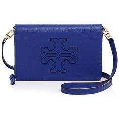 Tory Burch Harper Flat Wallet Crossbody (17.805 RUB) ❤ liked on Polyvore featuring bags, wallets, macaw, leather crossbody wallet, real leather wallets, flat wallet, leather crossbody bags and blue leather wallet
