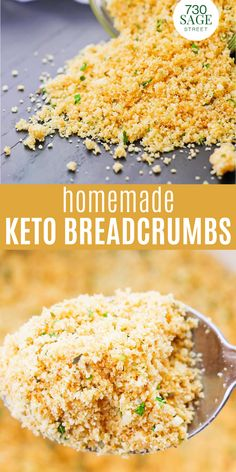 This low carb breadcrumbs recipe is a great substitute for regular breadcrumbs. They are gluten free and keto friendly too!#easyrecipes #onthetable #ketorecipes #breadcrumbs #homemade Low Carb Pizza, Low Carb Lunch, Low Carb Keto, Low Carb Appetizers, Yummy Appetizers, Appetizer Recipes, Best Low Carb Recipes, Low Carb Chicken Recipes, Ketogenic Recipes