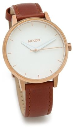 The Kensington Leather Watch - Lyst