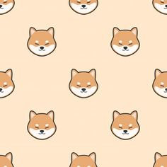More than 3 millions free vectors, PSD, photos and free icons. Exclusive freebies and all graphic resources that you need for your projects Dog Wallpaper Iphone, Cute Dog Wallpaper, Kawaii Wallpaper, Cute Wallpaper Backgrounds, Cute Cartoon Wallpapers, Shiba Inu, Chibi Dog, Ei Nerd, Akita