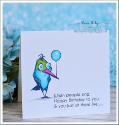 Crazy Bird Birthday card by Daizy-Mae - Cards and Paper Crafts at Splitcoaststampers