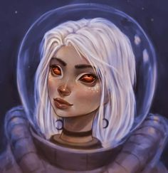 "3,220 Likes, 12 Comments - Anthulu (@anthuluart) on Instagram: ""New Tuesday night Photoshop painting, another space girl   #noprogress #photoshop #painting…"""