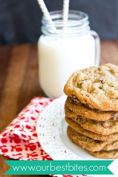 Giant Oatmeal Raisin Cookies - Our Best Bites // If you are a fan of Oatmeal Raisin cookies, this recipe is pretty much perfection.